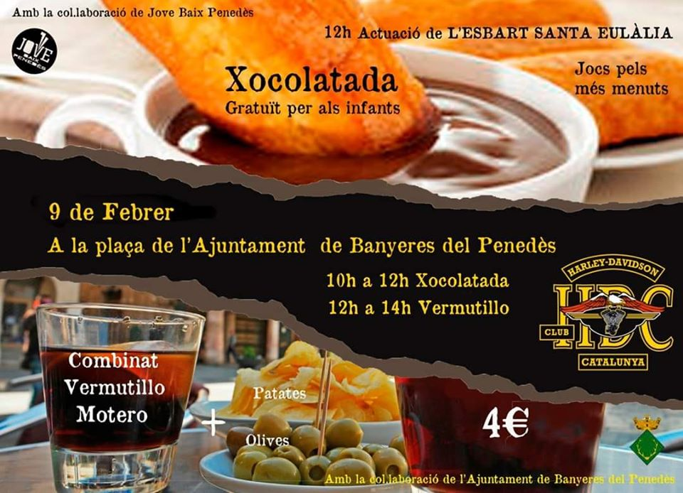 Chocolatada + Vermutillo en Banyeres del Penedès