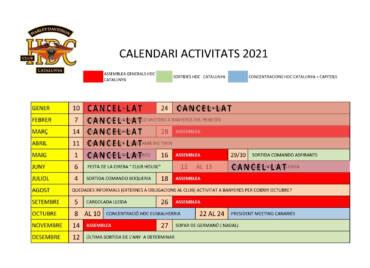 Calendari d'activitats HDC Catalunya 2021